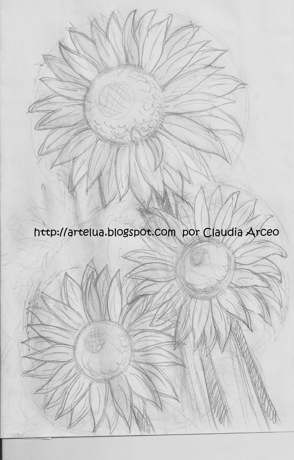 Arte arte y mas arte boceto baco zombie y girasoles - Pintar tejas de barro ...