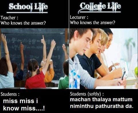 School Life and College Life - Funny Image