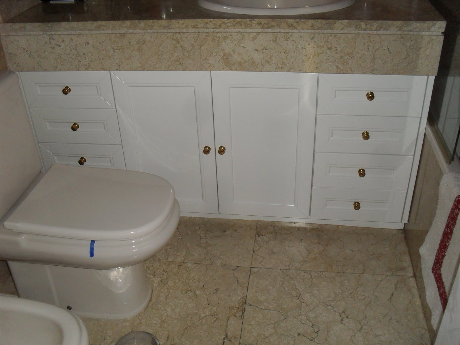 Baño Blanco Suelo Madera ~ Dikidu.com