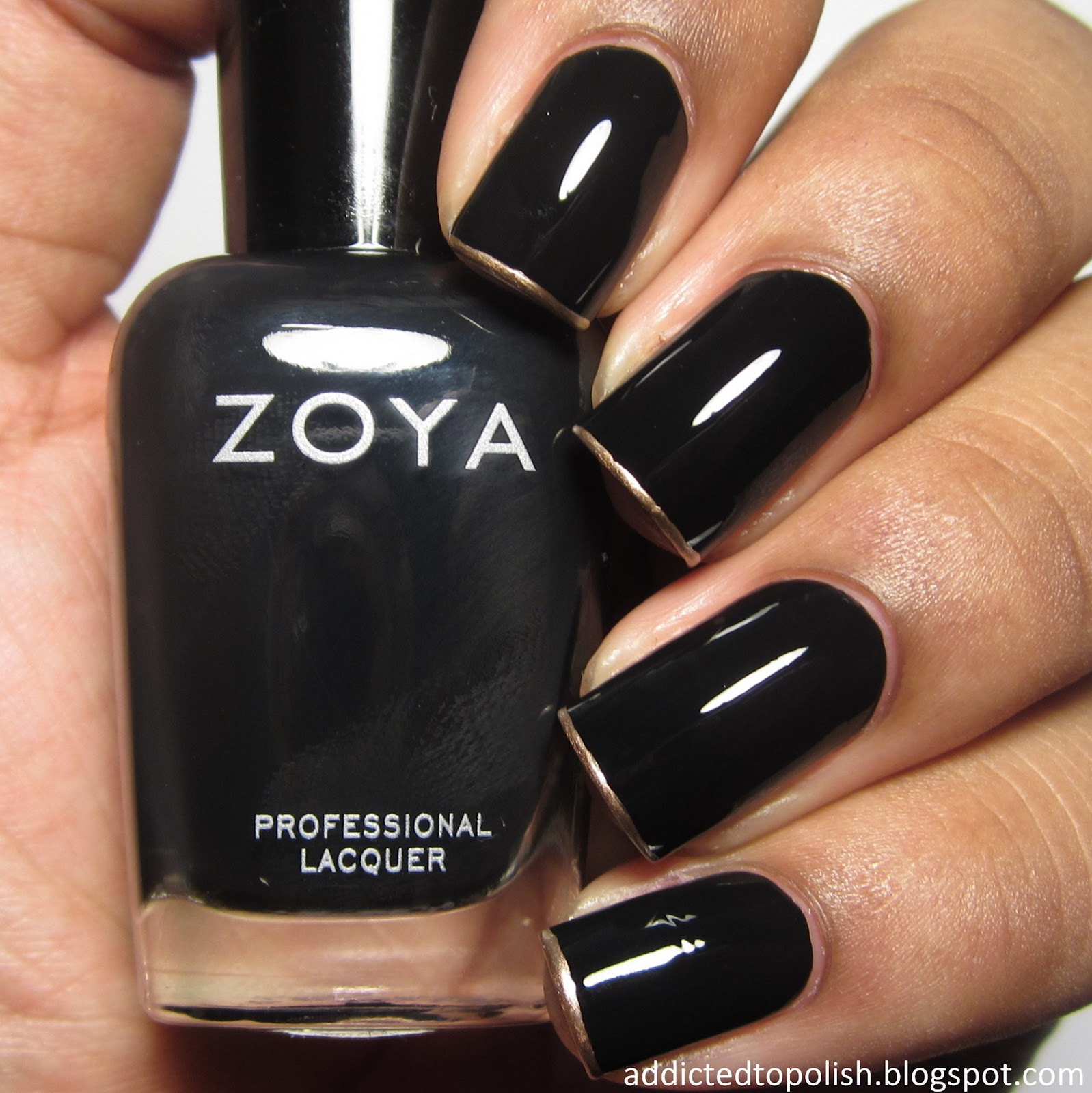 black gold french tips