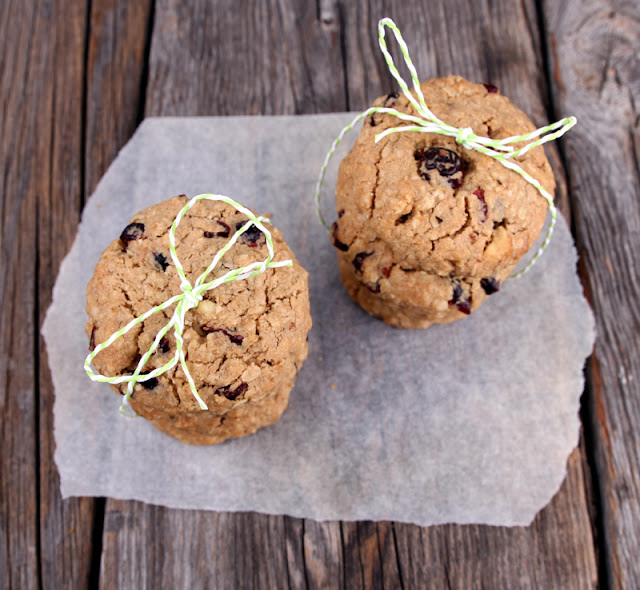 Oppskrift Hjemmebakte Havrecookies Veganske Cookies Tranebær Valnøtter