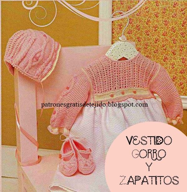 zapatos bebe tejidos a dos agujas