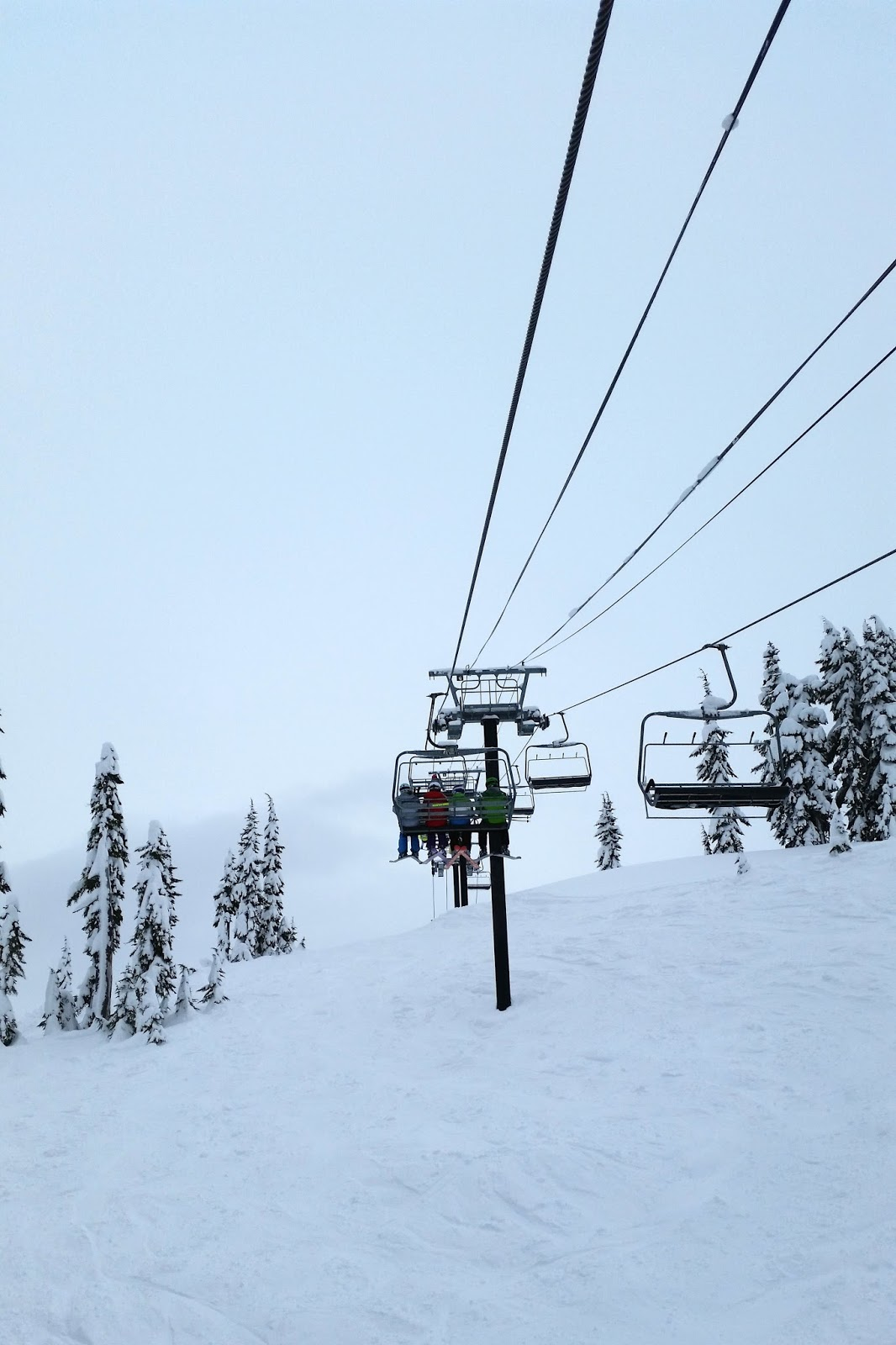 chair lift at mount baker in washington
