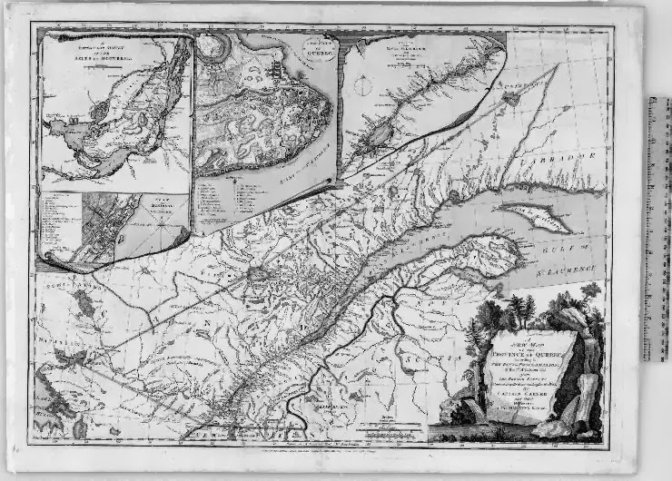 Map of Quebec in 1776