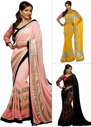 Homeshop18 : Soha Ali Khan Collection – Pick Any 1 Stylish Embellished Saree by Hiba at Rs.1569 : Buy To Earn