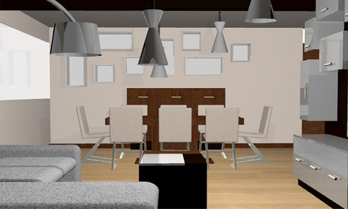 Remodelaci n interior de departamento dise o 3d por for Diseno de interiores mexico