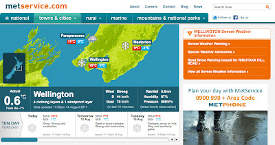 MetService screenshot