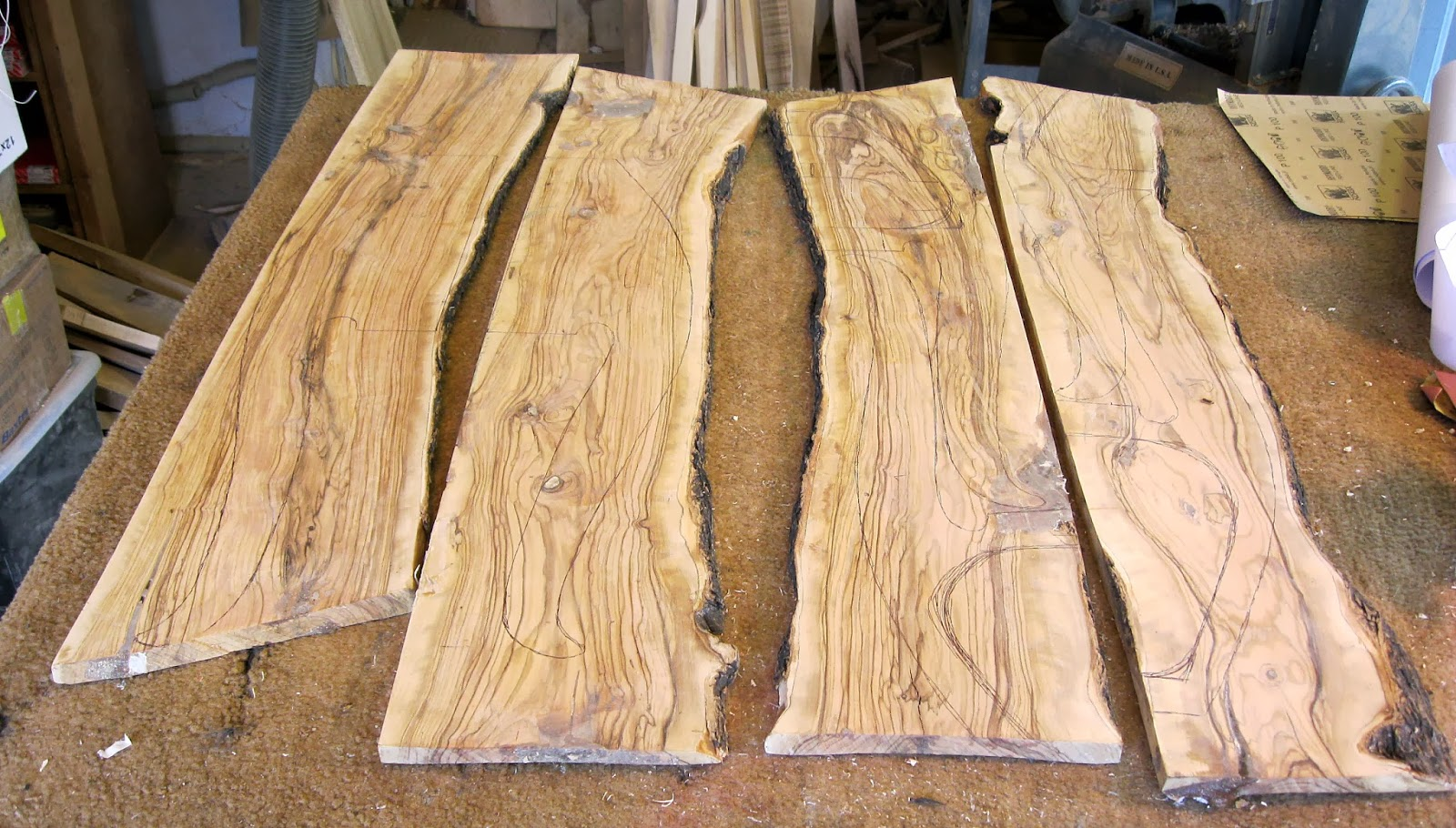 Wild Olivewood 2 X 12 Inches Partially Dry Has Been Drying With Wax On For Over Two Years 21 50