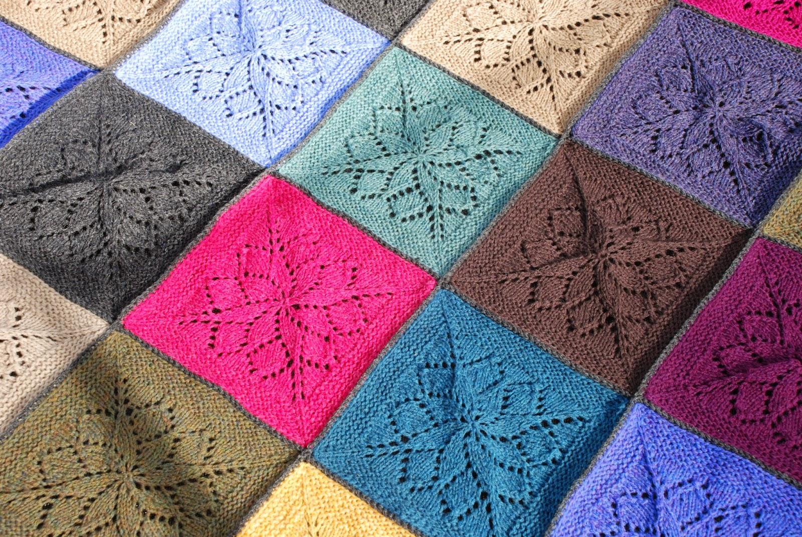 strikkede firkanter opskrift