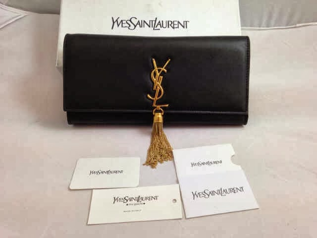 LOVELY BRANDED BAGS : Clutch YSL Tassel Original Leather Best Quality