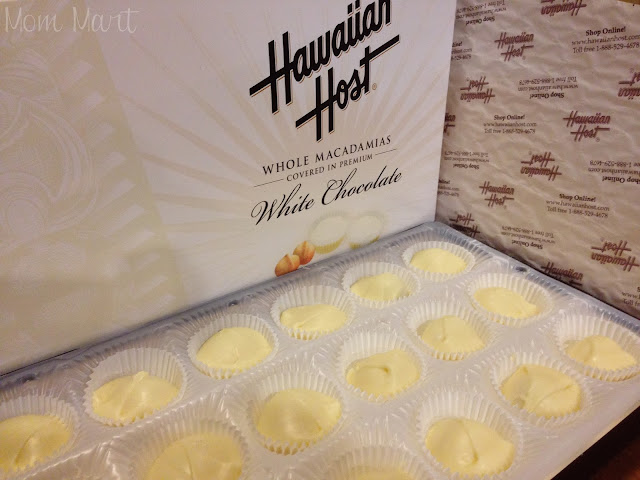 Hawaiian Host White Chocolate covered macadamia nuts