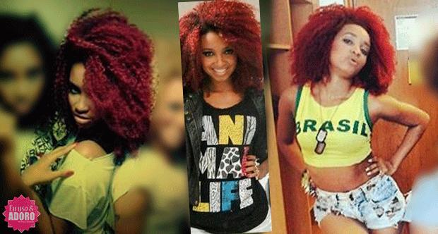 Como se tornar negra do cabelo afro vermelho (ruivo) - Arielle Macedo