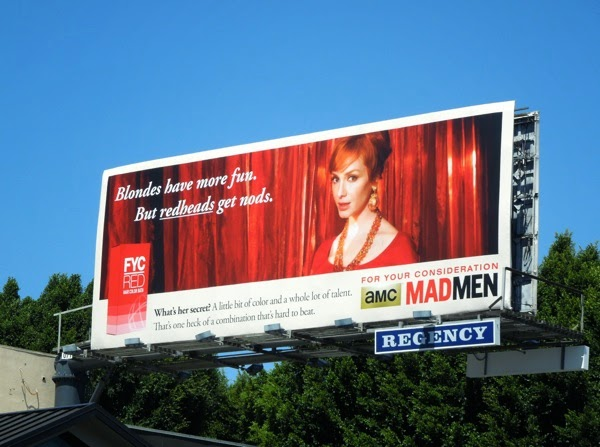 Mad Men Joan redheads vintage Emmy 2014 billboard