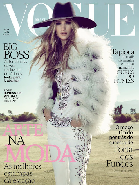 Rosie Huntington-Whiteley for Vogue Brazil April 2013