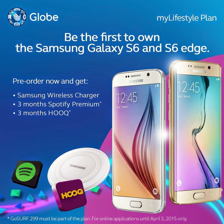 globe releases samsung galaxy s6 and galaxy s6 edge postpaid plan pricing dugompinoy a