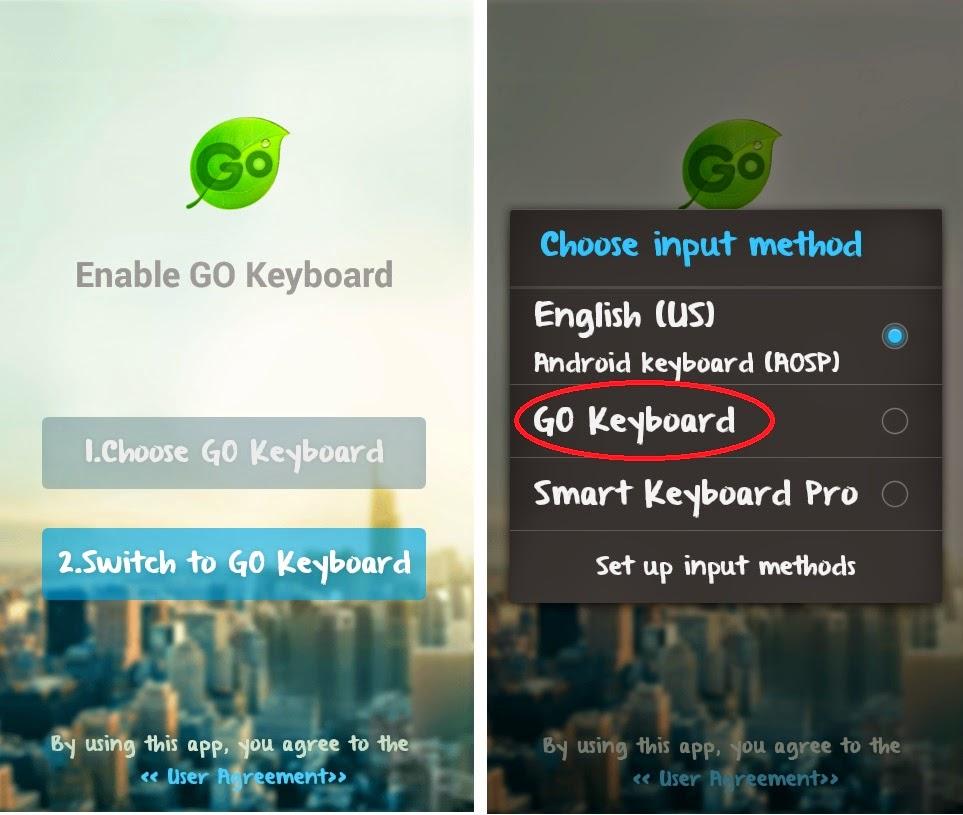 Menggunakan Aplikasi Keyboard android
