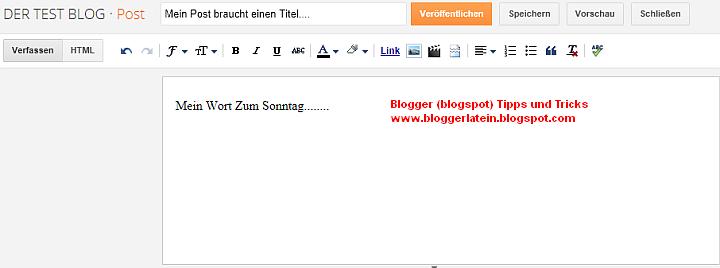 Einem Post bei Blogger Blogspot ein Label - Kategorie - zuweisen