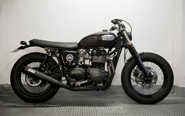 GasCap Motors Blog  2004 Triumph Bonneville by CRD Cream Motorcycle