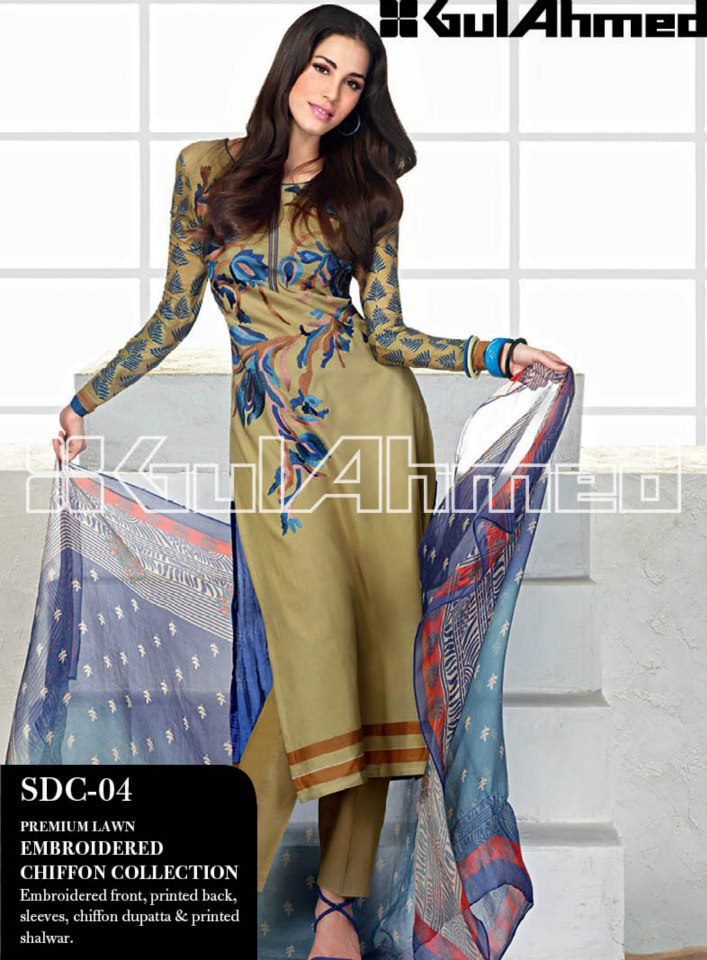 Have a look at. .Lawn Collection For Ladies By Gul Ahmed