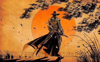 Samurai Sward Cowboy Sunset Red Steel 2 HD Wallpaper