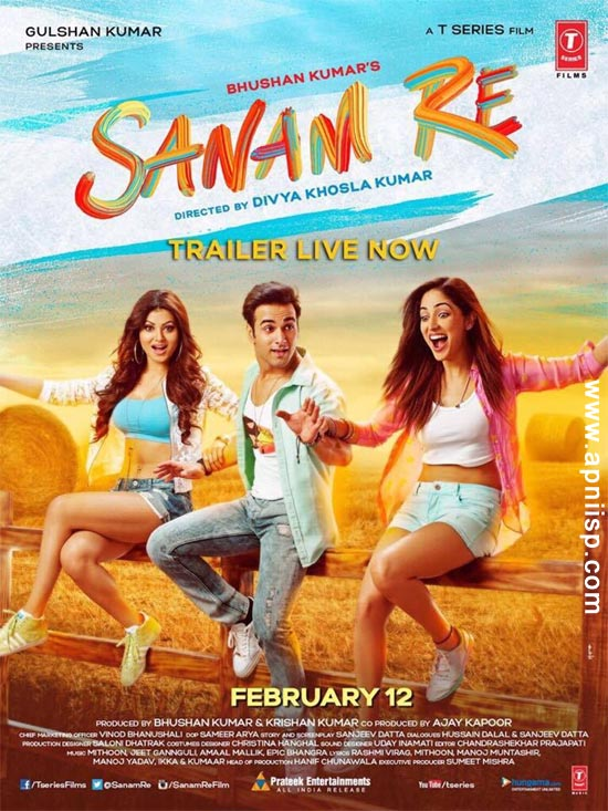 Complete cast and crew of Sanam Re (2016) bollywood hindi movie wiki, poster, Trailer, music list -Pukit Samrat and Yami Gautam, Movie release date 12 February 2016