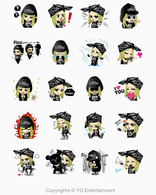 They Sell A Stamp Of G DRAGON The Leader Korean Boys Band BIGBANG For 250yenabout 25USD It Is Slightly More Expensive Than Other LINE Stamps