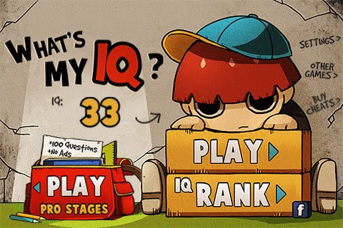 What's My IQ? Free App Game By Orangenose Studios