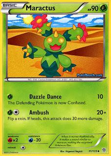 Maractus Plasma Storm Pokemon Card