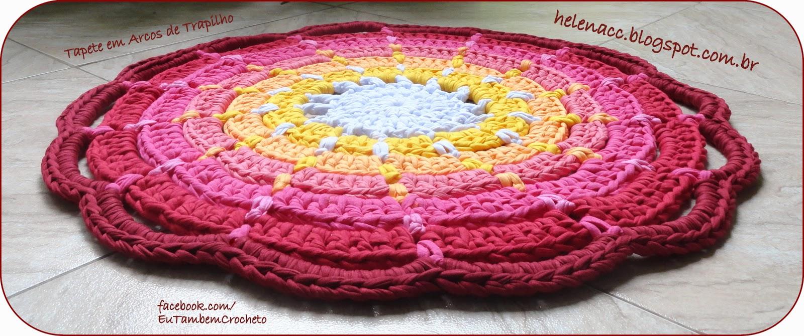 Вязание крючком круглых ковриков из тряпок