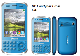 spesifikasi hp cross g8t type dan merk cross g8t model candybar