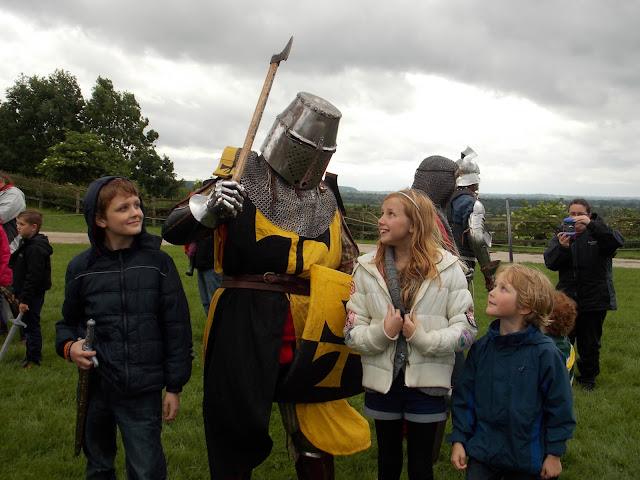 children at tutbury castle medieval display
