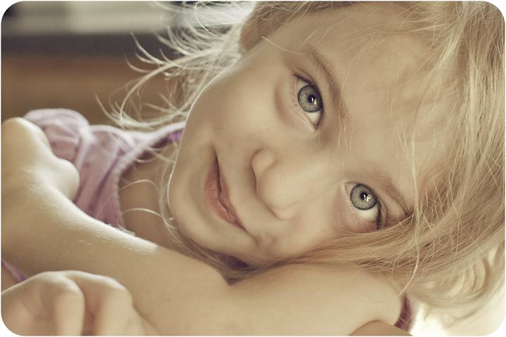 Heart faces: beautiful eyes