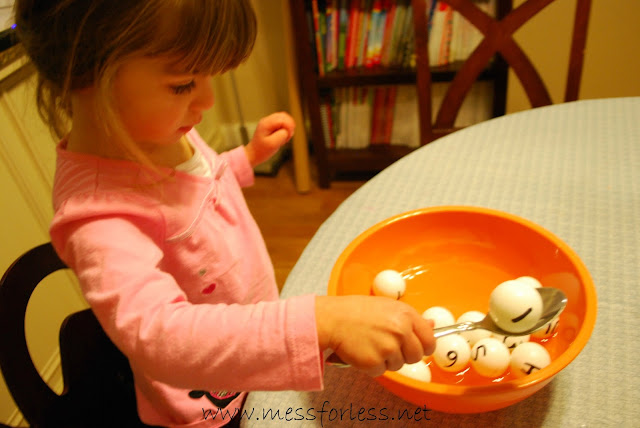 counting fun, ping pong ball math