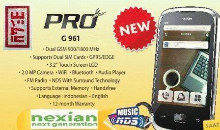 Spesifikasi Harga Nexian NX-G961 Pro