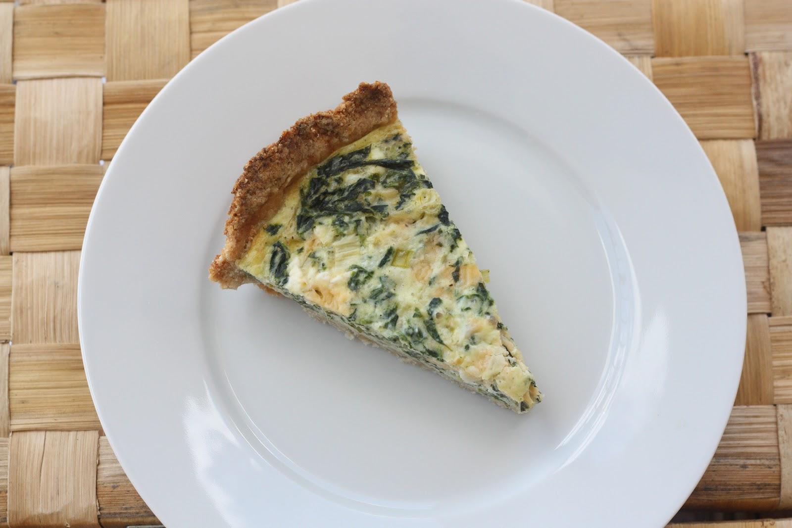 Vegetarian Recipe #15: Spinach Quiche - Everyday Reading