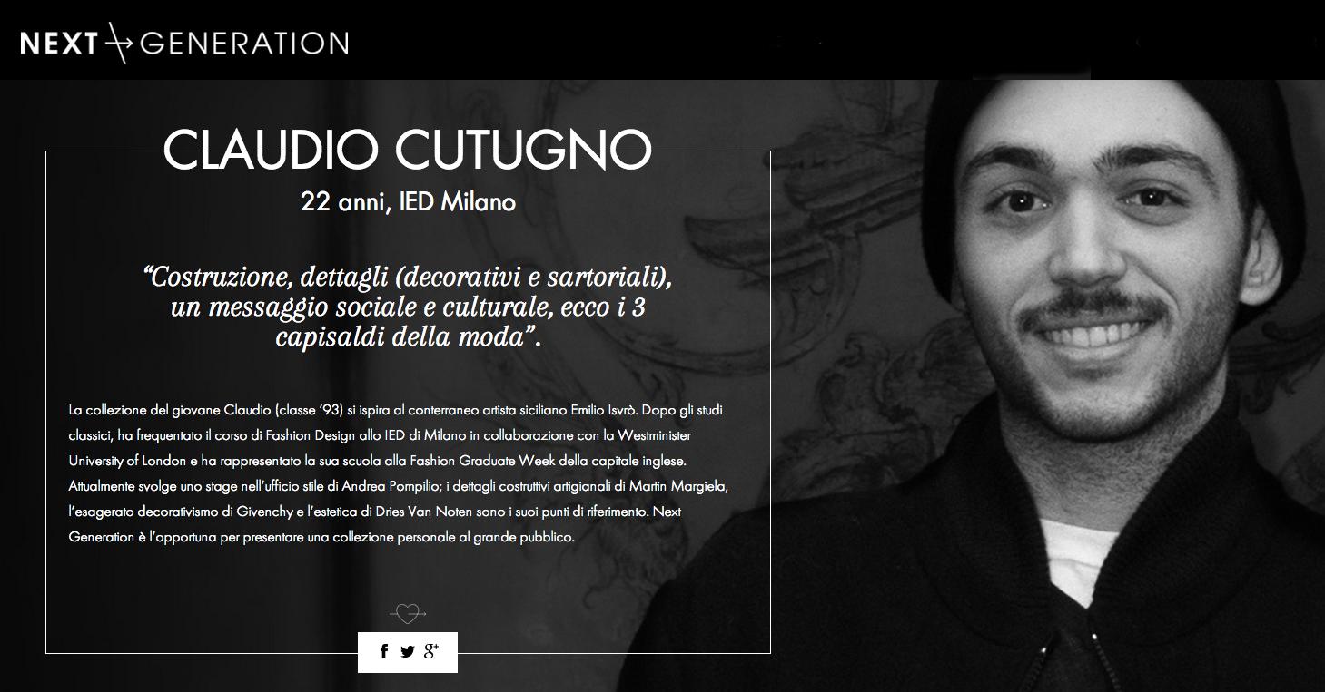 claudio cutugno vincitore next generation 2015