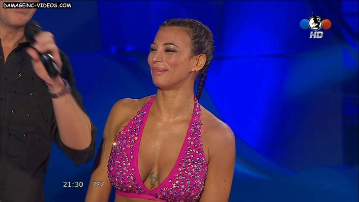 Argentina showgirl Ximena Capristo deep cleavage HD video