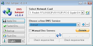 Dns Move quickly using DNS Jumper