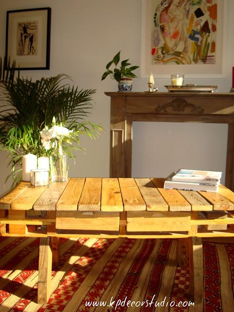 comprar mesa de palet online con palets reciclados KP para decoracion nordica