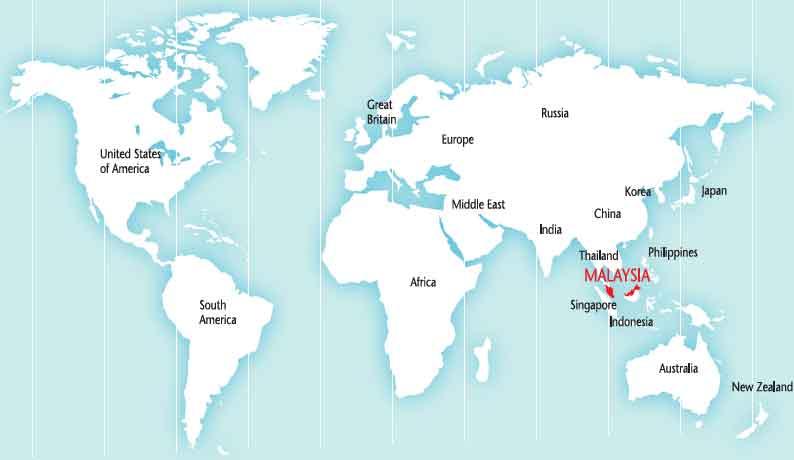 Где находится малайзии