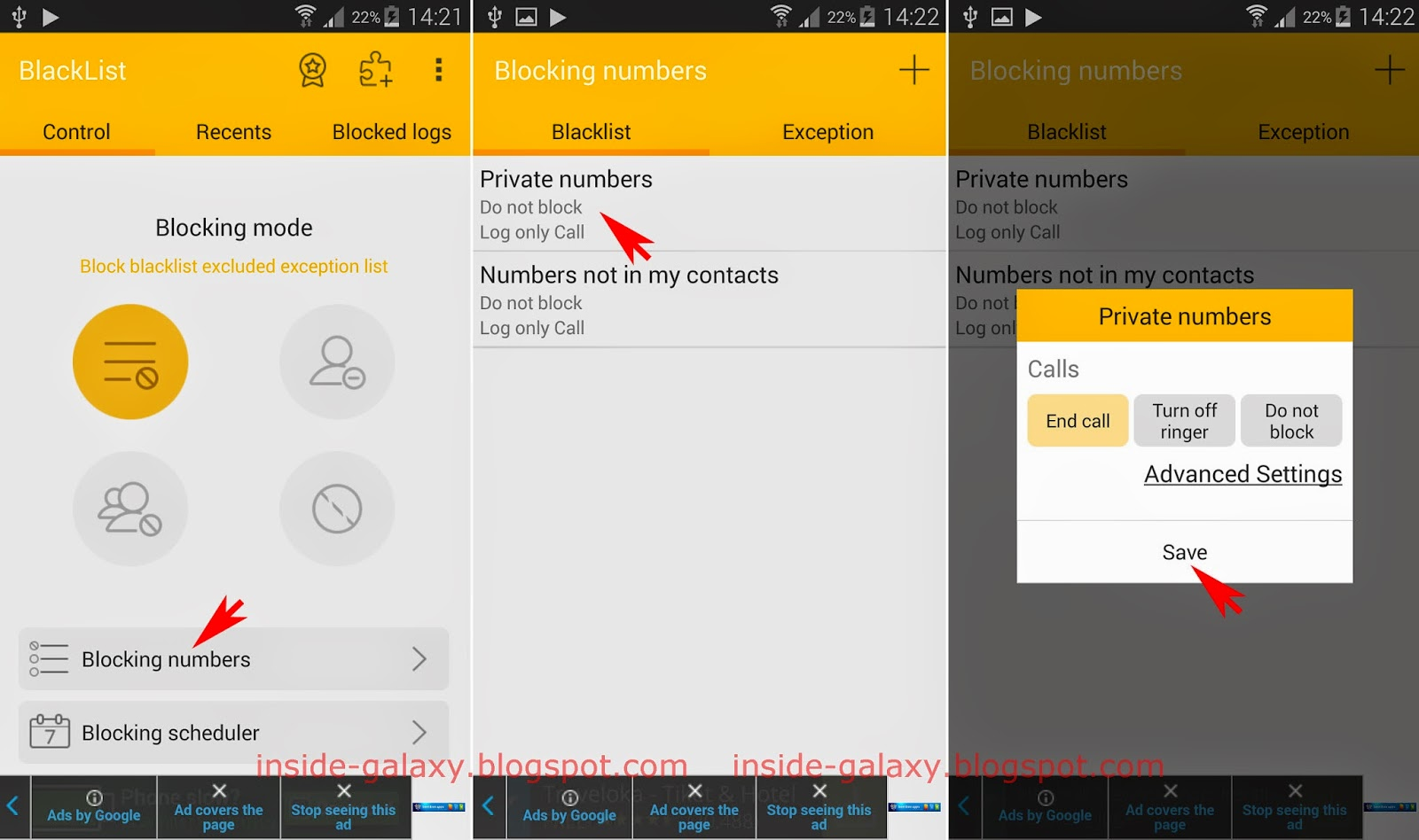 Phone Android Phone Blacklist inside galaxy samsung s5 how to block private calls or numbers in android 4 2 kitkat