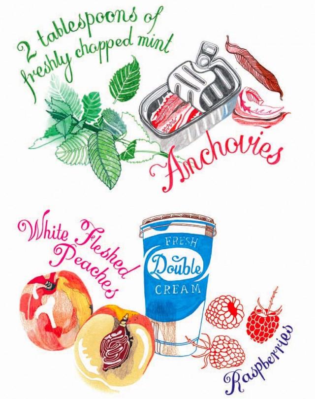 Food Illustrations by Hennie Haworth