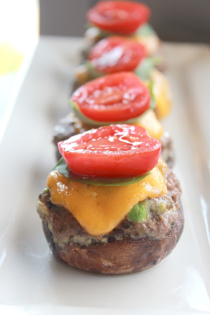 Cheeseburger Stuffed Mushrooms - Food I Make My Soldier