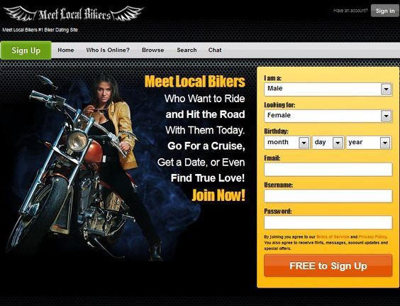 Dating site bikers free