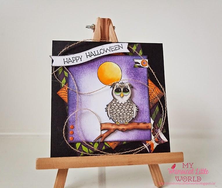 spooky owl, owl, digi stamp, stamp , digita stamp