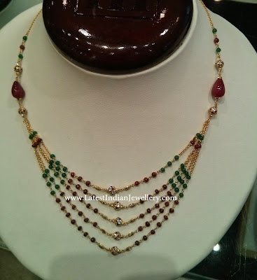 light weight beaded necklace