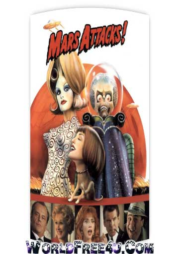 Poster Of Mars Attacks 1996 In Hindi Bluray 720P Free Download