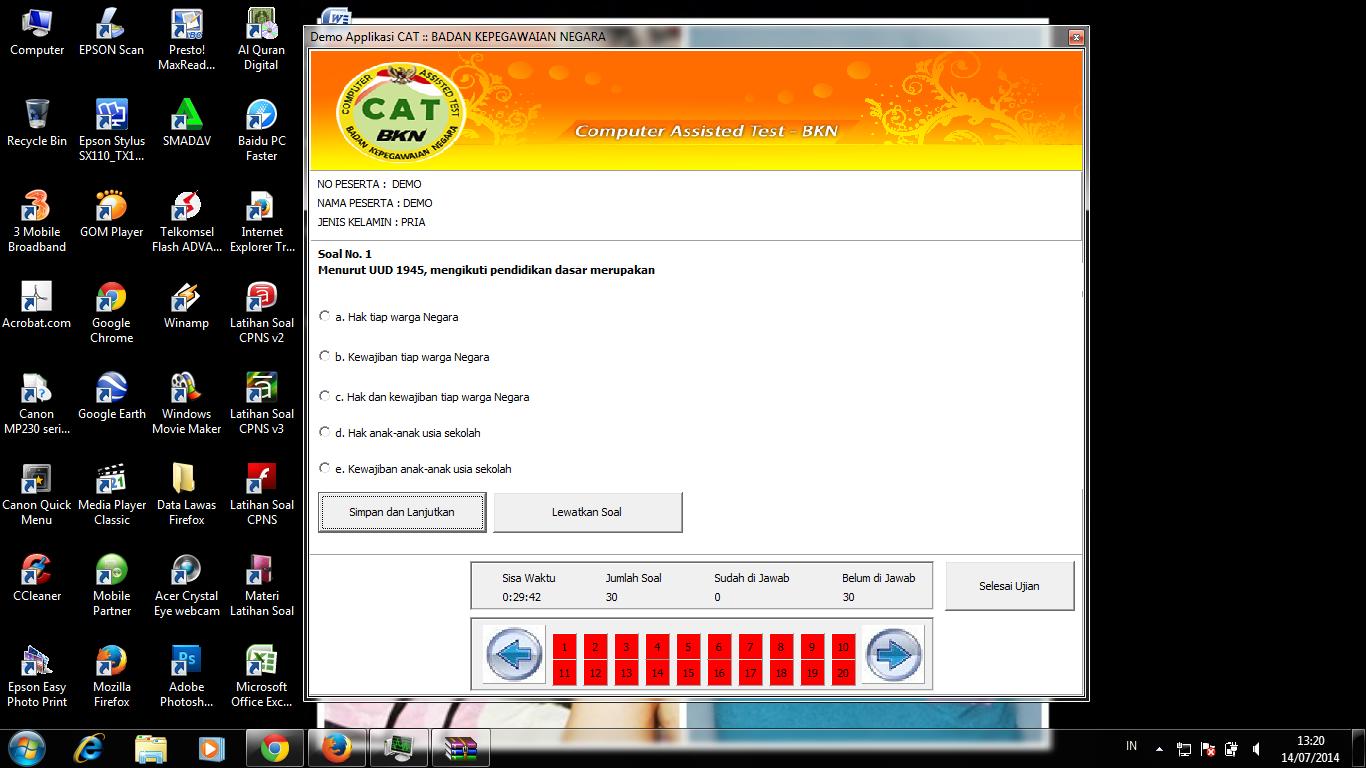 Download AplikasiSoftware CAT CPNS Gratis dari BKN resmi