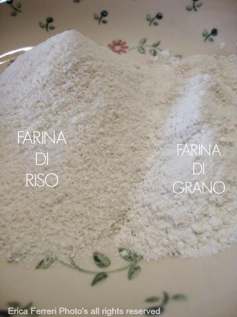 farina di riso e farina di grano