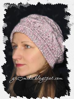 Показать схемы вязания зимней шапки для девочек на спицах